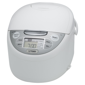 JAX-R Series White Micom Rice Cooker With Tacook Cooking Plate