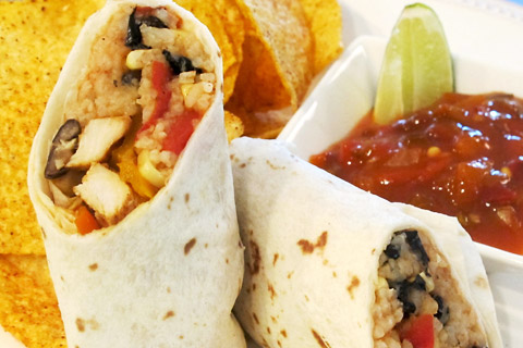 Chipotle Chicken Burritos With Mexican Rice