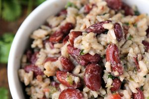 Coconut Rice with Kidney Beans