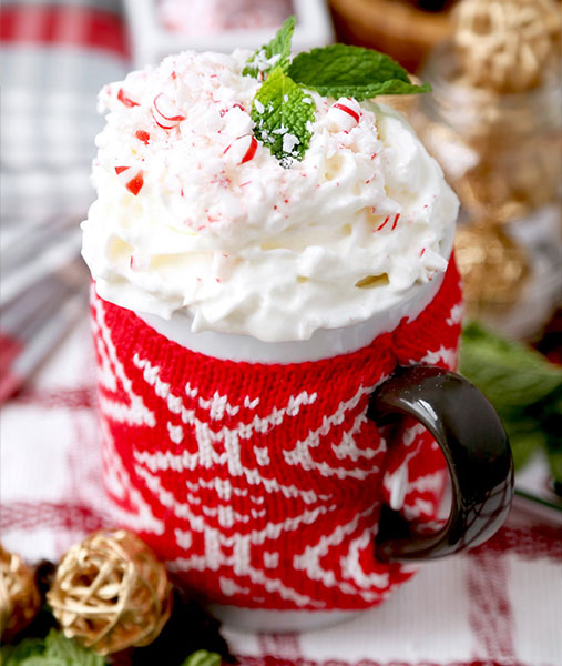 Holiday Peppermint Mocha Recipe - get in the spirit of the holiday season with this festive and easy homemade peppermint mocha recipe! #drinks #hotchocolate #hotdrinks Tiger USA