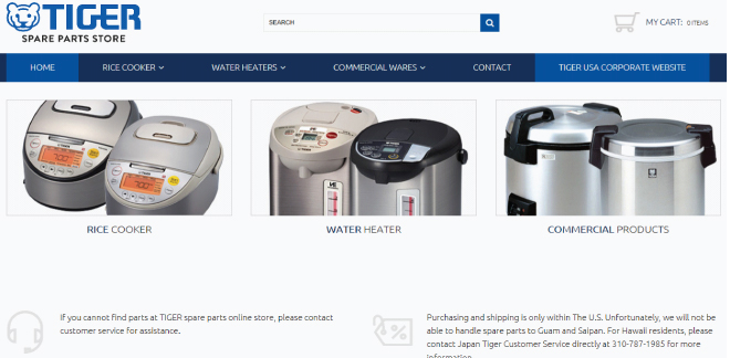Tiger Corporation establishes spare parts store online