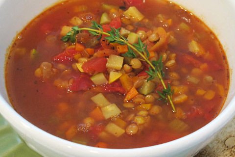 Spicy Lentil and Vegetable Soup