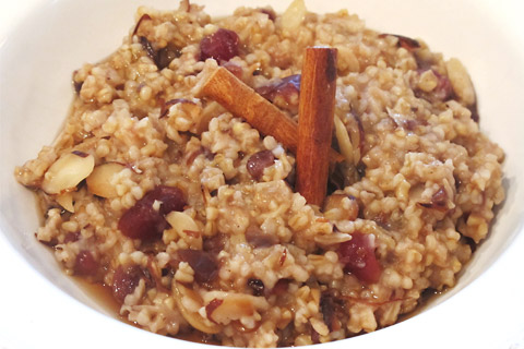 Steel Cut Oatmeal With Cranberries and Pecans - A healthy and comforting breakfast that's easily made in a rice cooker or multi cooker. Visit Tiger USA for the recipe! #steelcutoatmeal #eatinghealthy