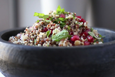 Herbed Pomegranate Quinoa Salad