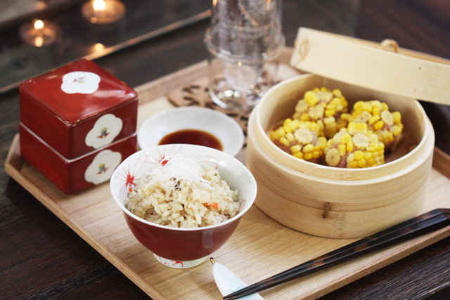 Corn shumai and Chinese fried rice recipes