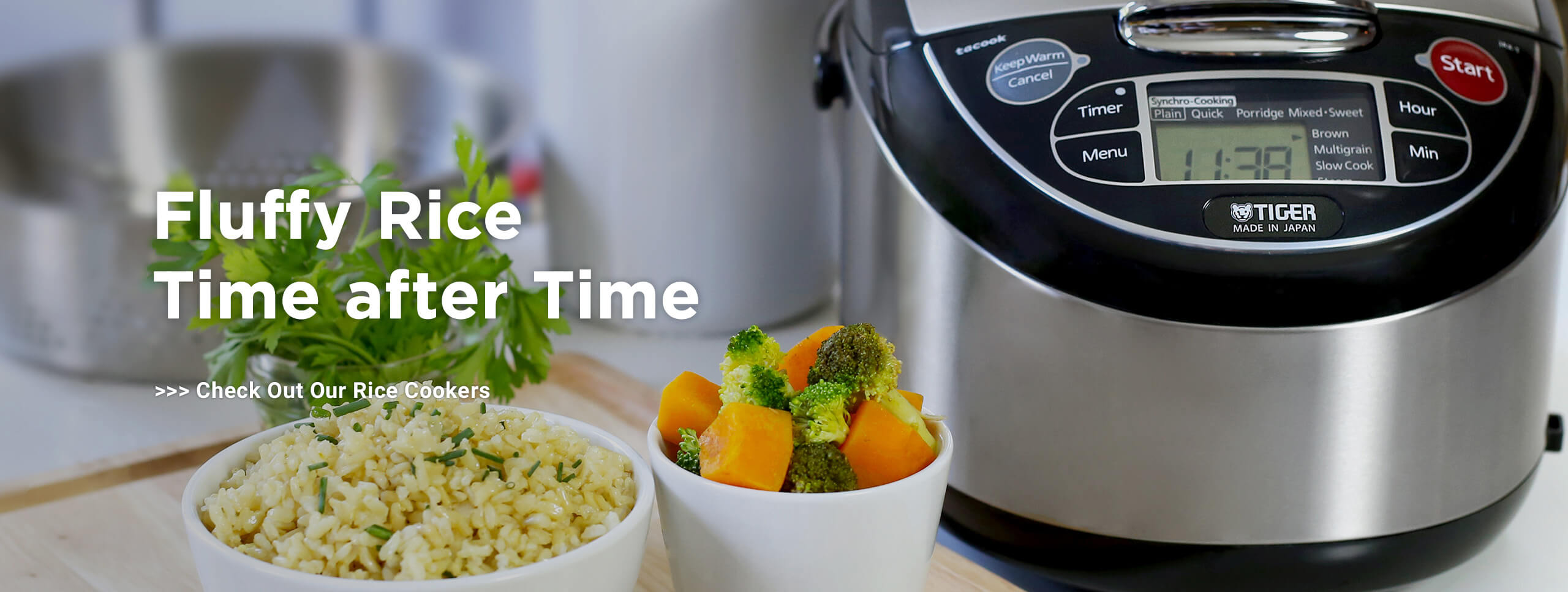 Fluffy Rice Time after Time Check Out Our Rice Cookers