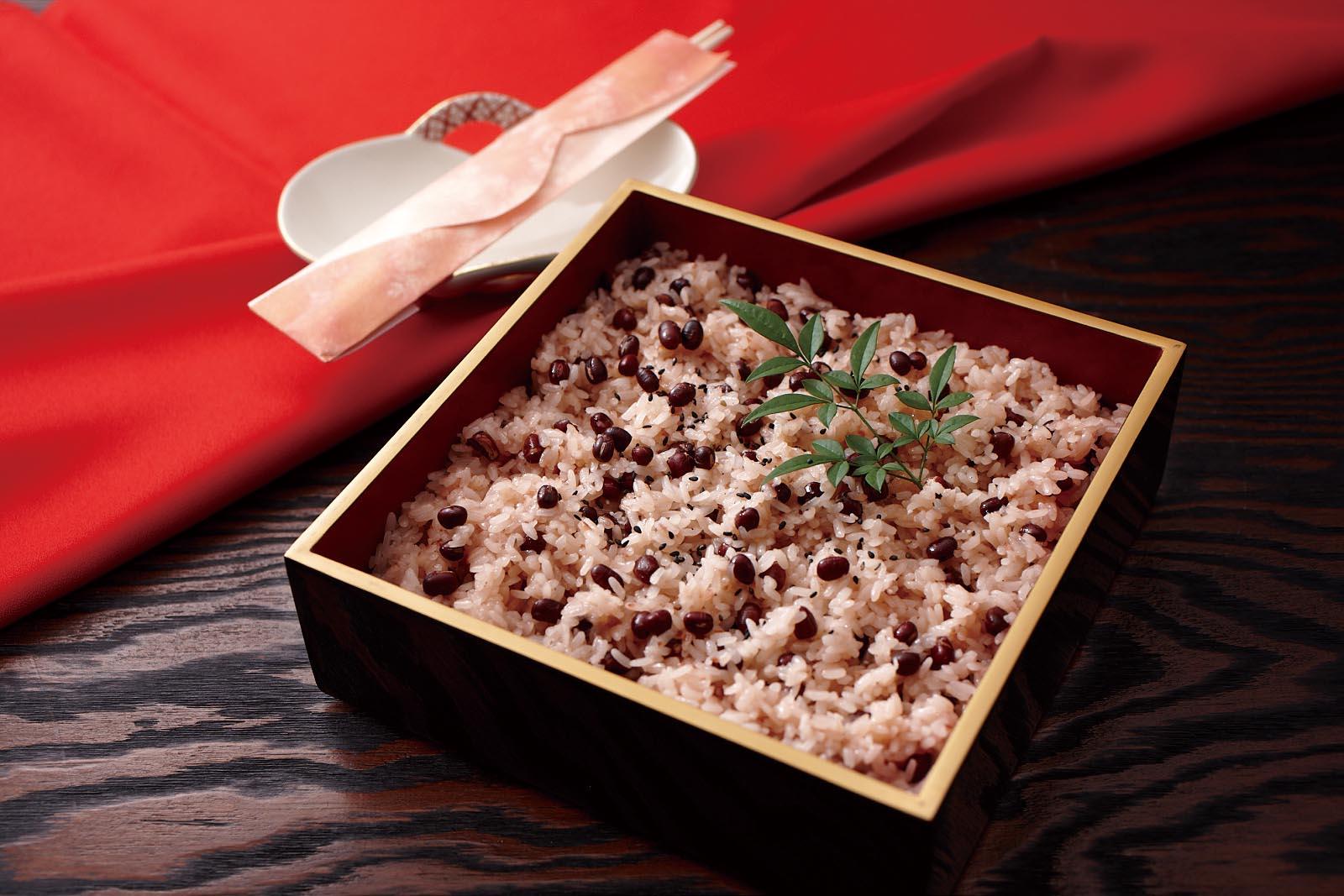 Sekihan - 赤飯 - Japanese Sticky Rice With Azuki Beans