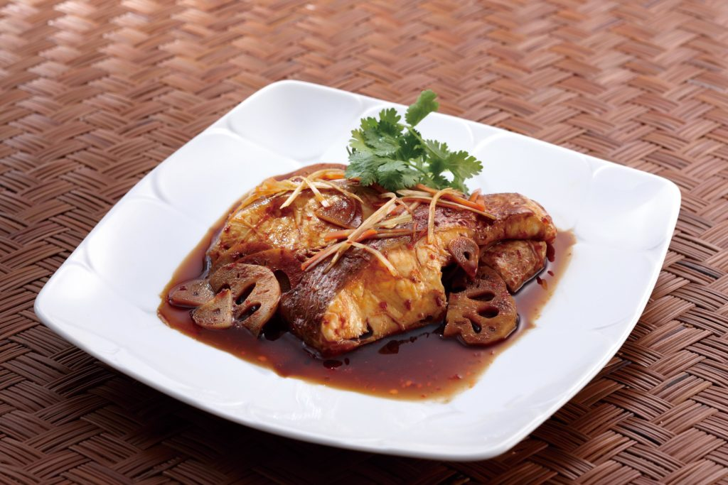 Steamed Sea Bream with Doubanjiang (Chili Bean Sauce) - A healthy Asian inspired fish dish made in our Tacook plate! #fishrecipes #tobanjan #Koreanfood #spicyfood | Tiger USA