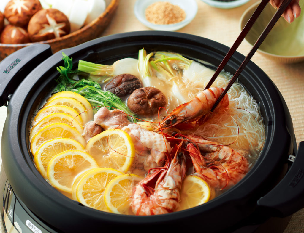 Lemon Nabe (Hot Pot) - this lemon nabe recipe is the perfect warming concoction to enjoy a hearty and healthy dinner with your besties! #hotpotrecipe #japanesefood #healthyrecipes | Tiger USA