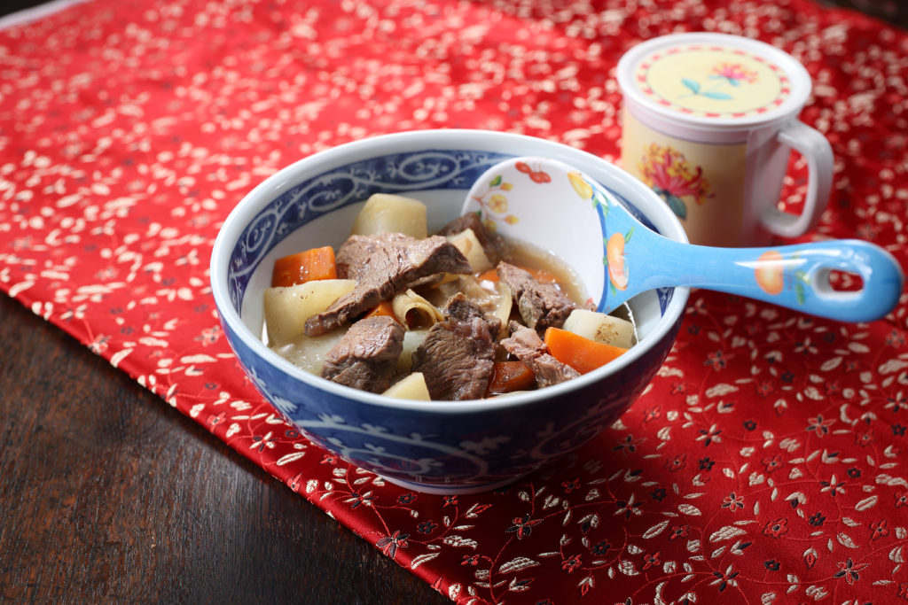 bowl of beef radish stew