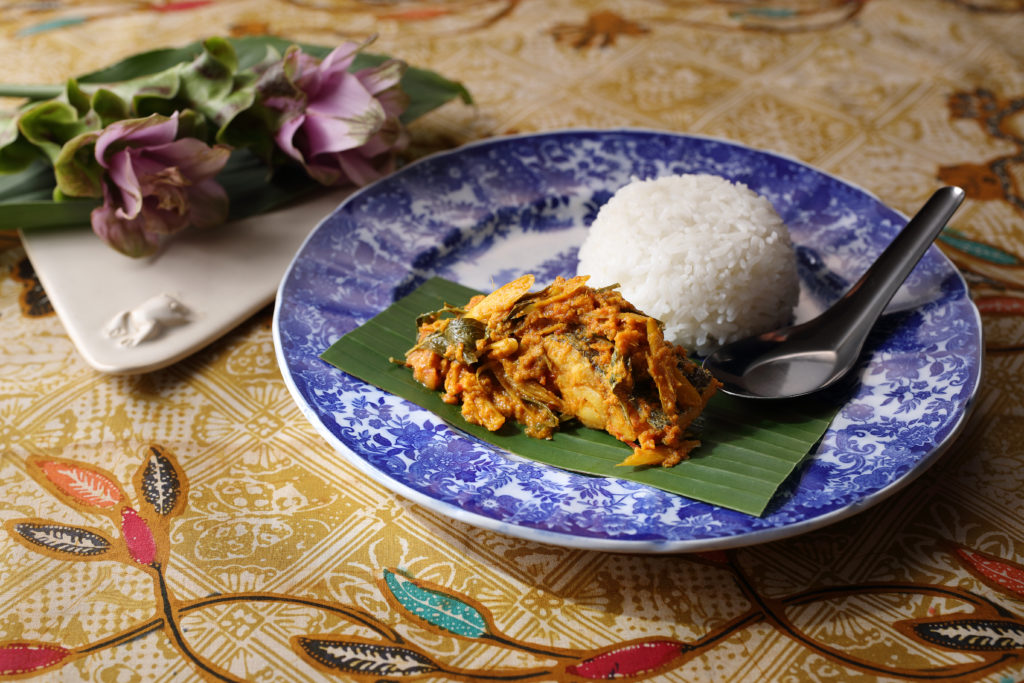 Banana Leaf Wrapped Fish with Rice