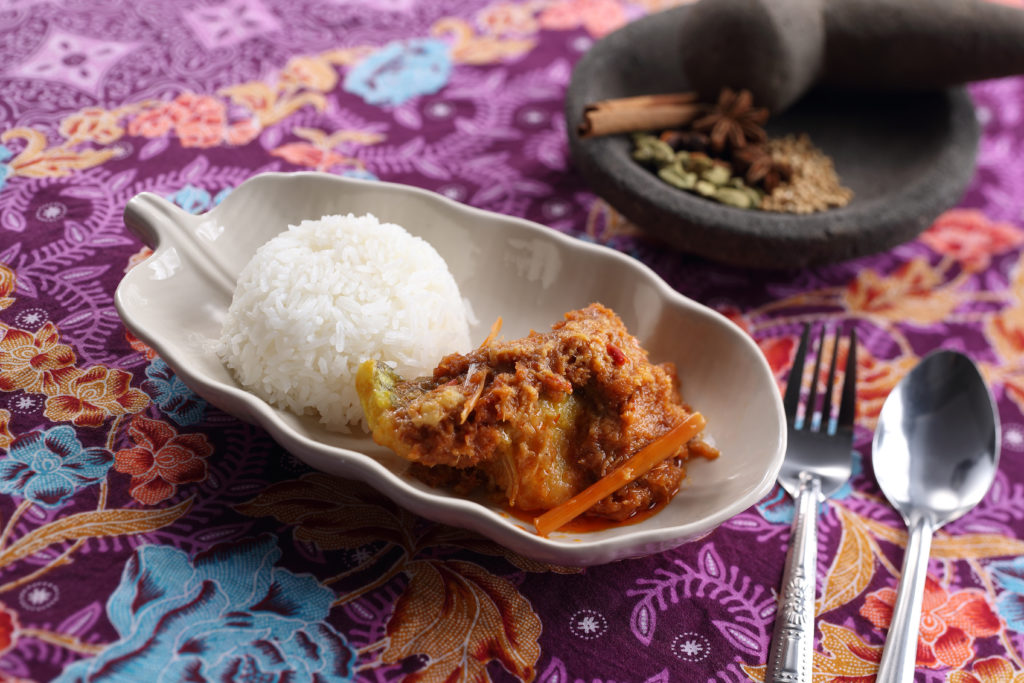Indonesian Style Stewed Spicy Fish with rice