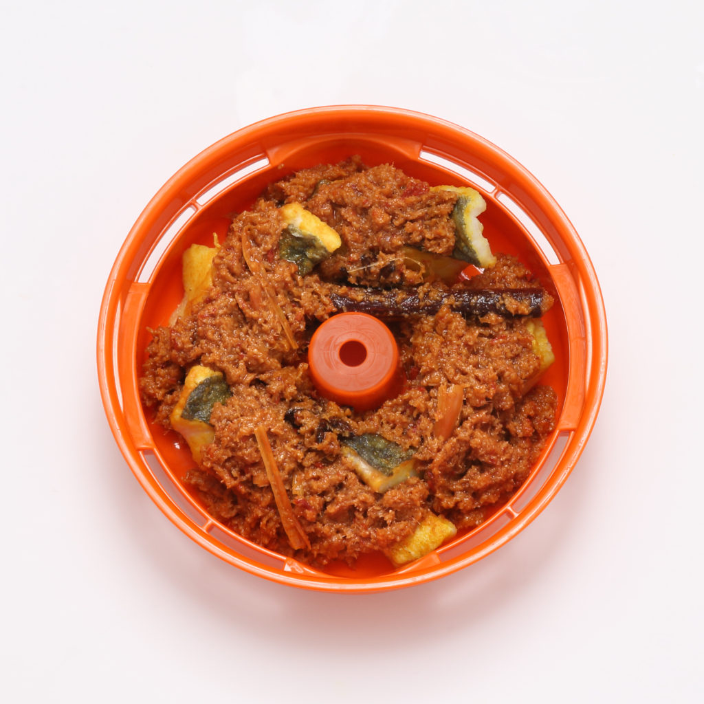 fish rendang in Tacook steam tray (Tiger appliances)