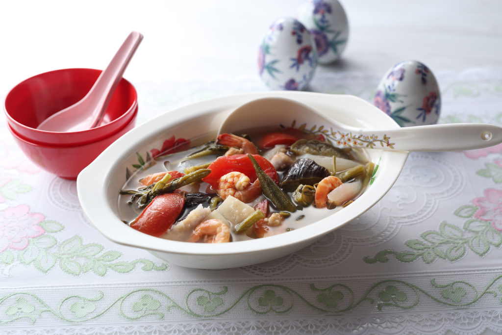 Filipino Sinigang soup