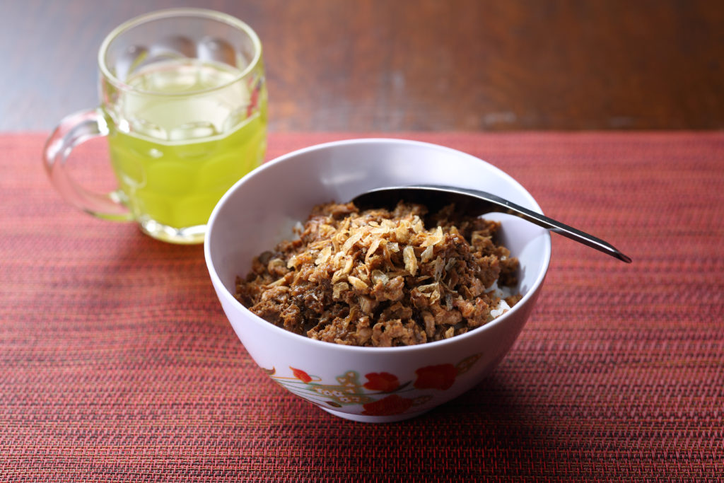 Taiwanese minced pork bowl