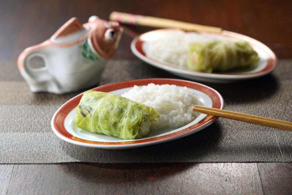 vegetarian napa cabbage wrap