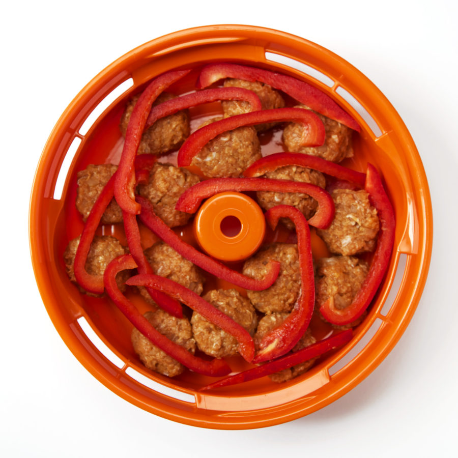Turkey meatballs made in Tacook Plate - Tiger USA