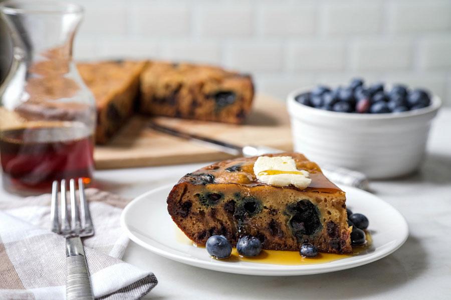 Giant Chocolate Blueberry Pancake