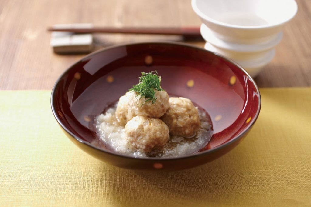 Chicken Meatballs with Grated Daiko