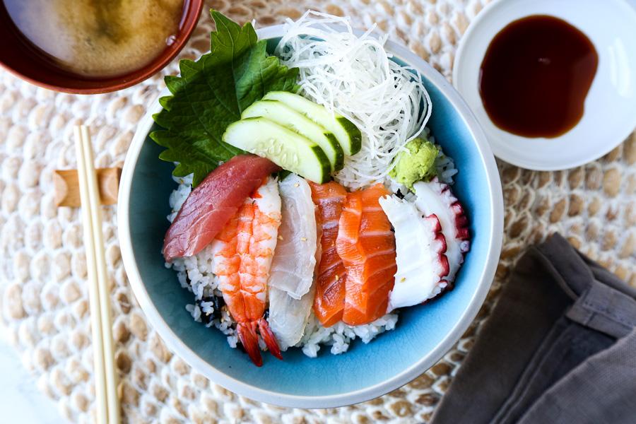 Chirashi (Scattered) Sushi