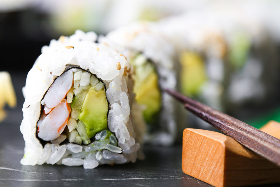 New York Roll (Shrimp, avocado, cucumber roll)