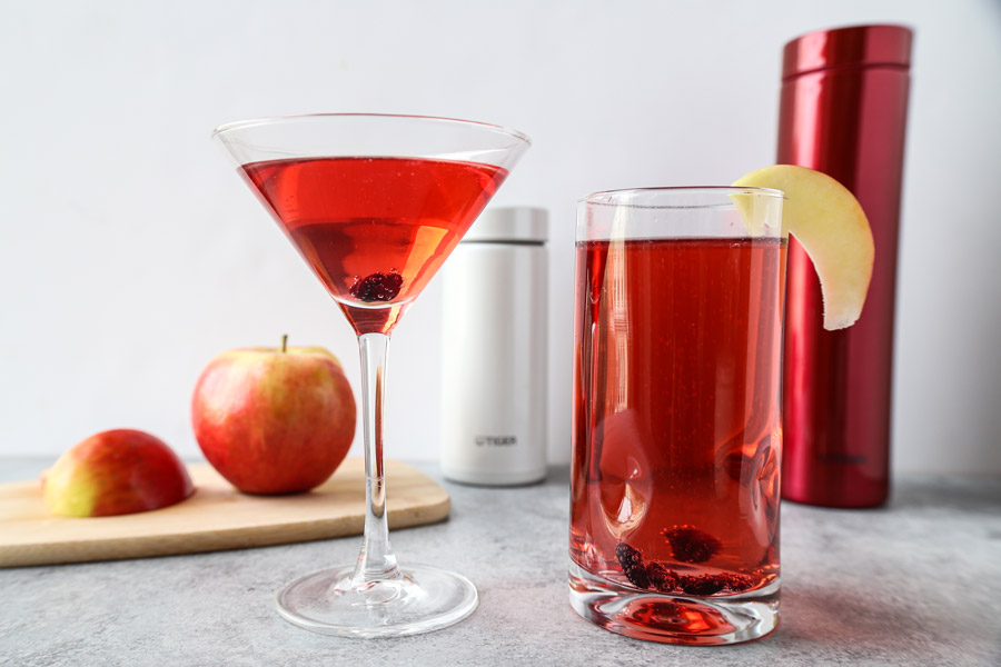 Cranberry Apple Cider Mocktail