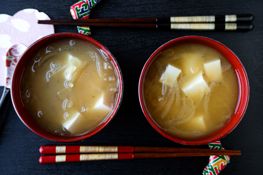 Onion and Tofu Miso Soup