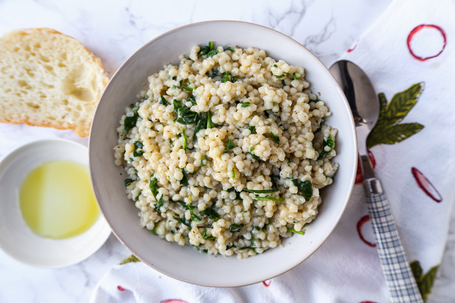Pearl Couscous Risotto
