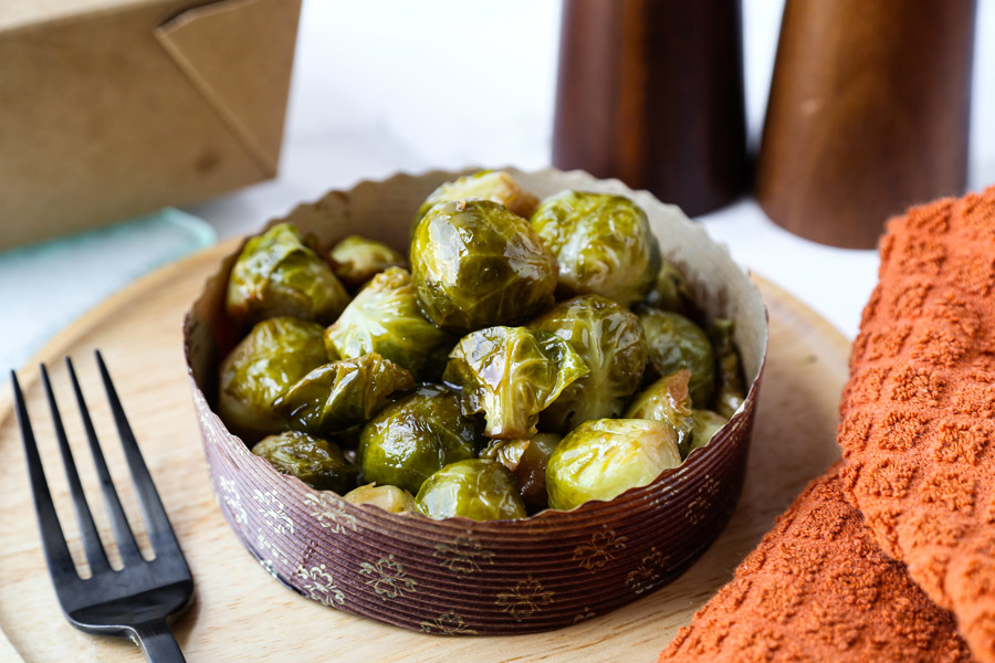 Rice Cooker Brussels Sprouts