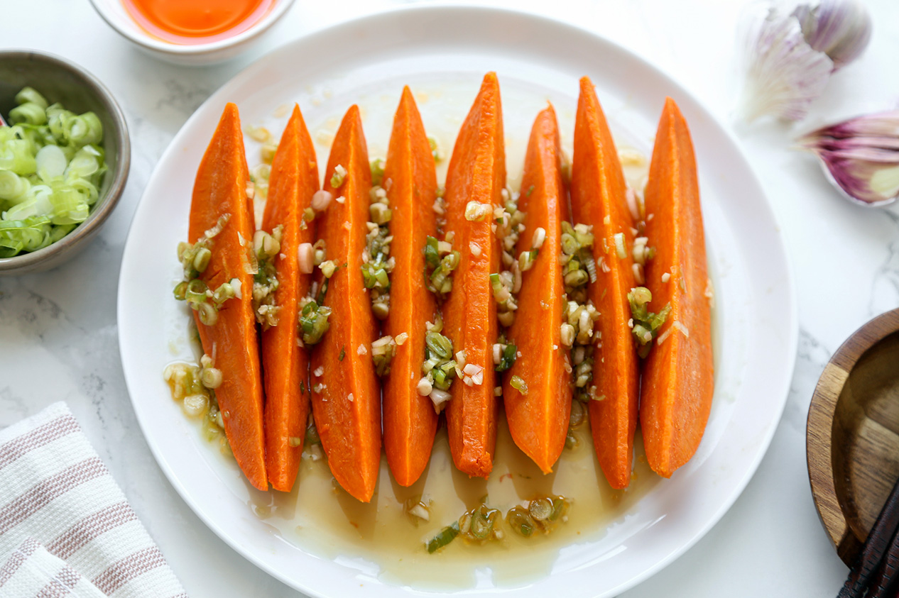 Sweet Potato with Chili Lime Dressing