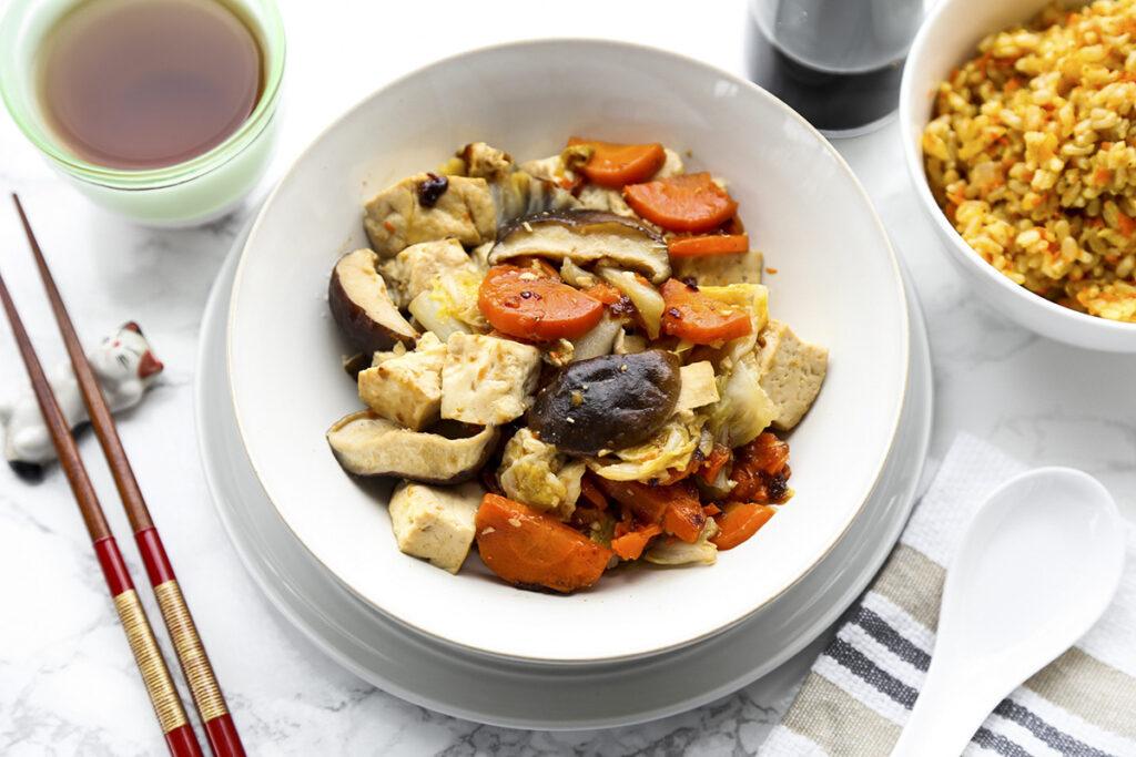 Cabbage and Tofu Stir Fry