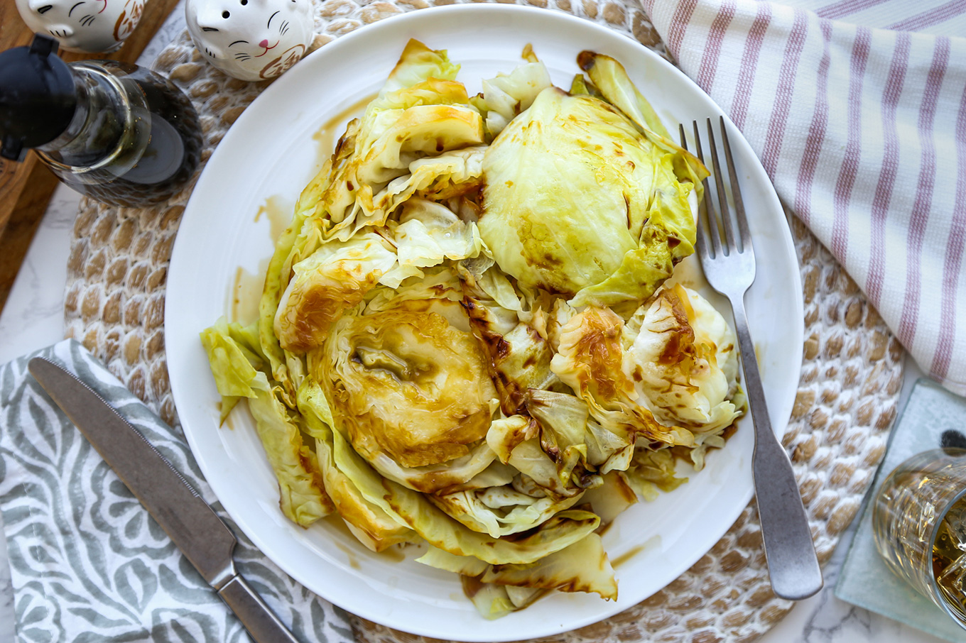 Steamed Cabbage with Soy Sauce