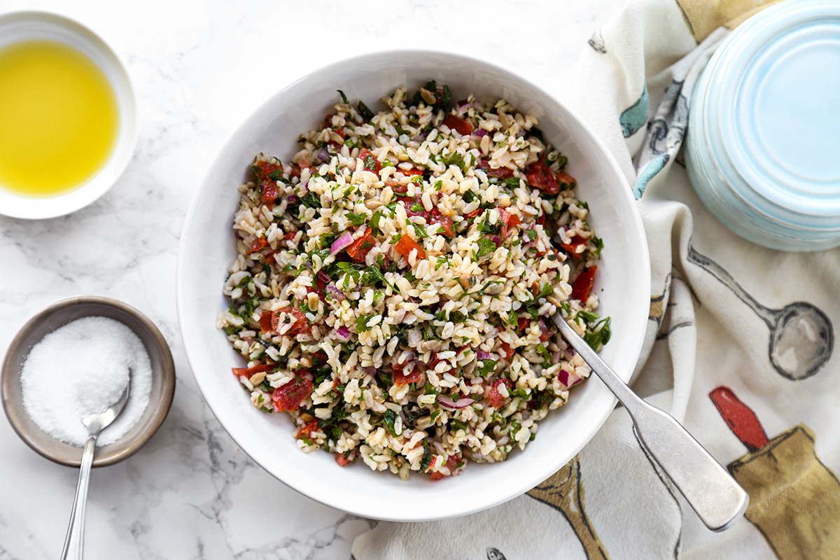 Brown rice tabouleh