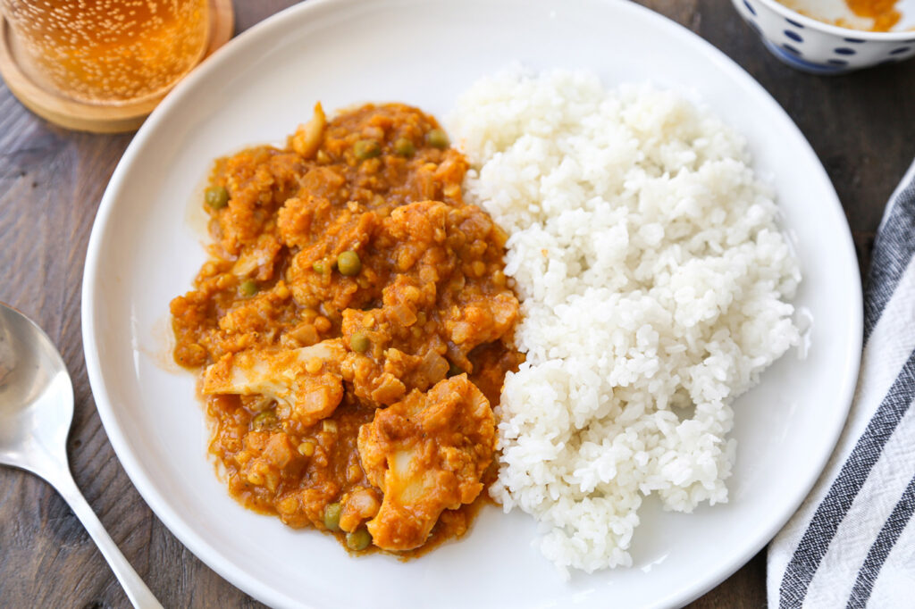 rice cooker cauliflower curry