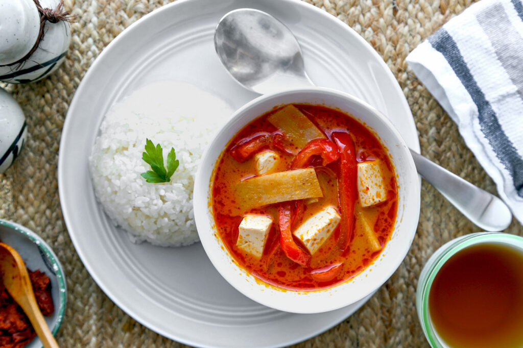 rice cooker vegan red curry