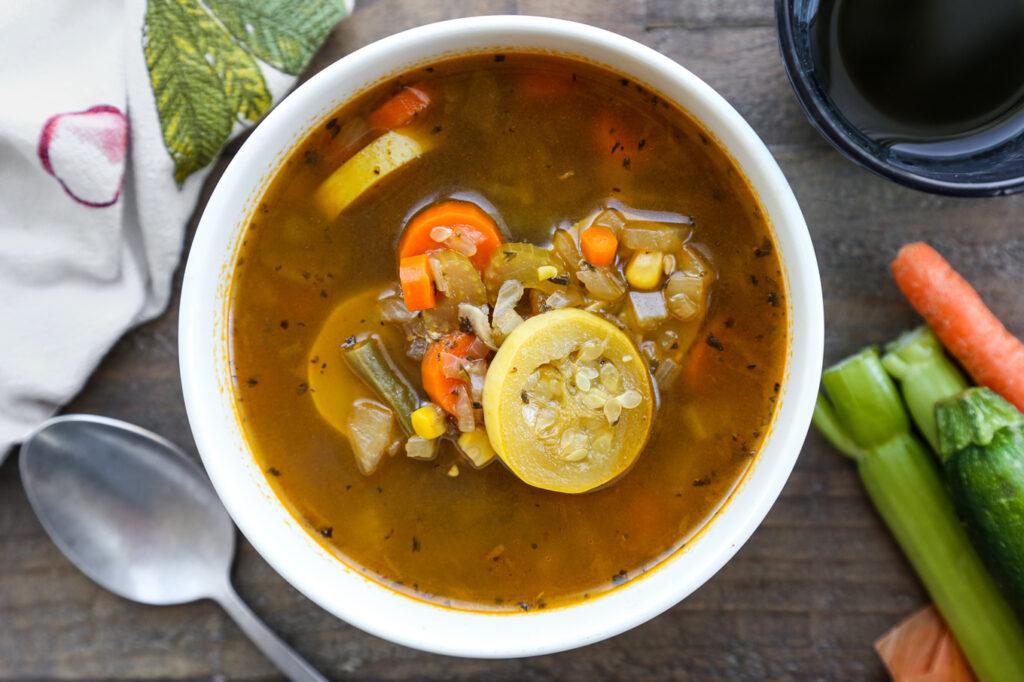 rice cooker farmer's market vegetable soup