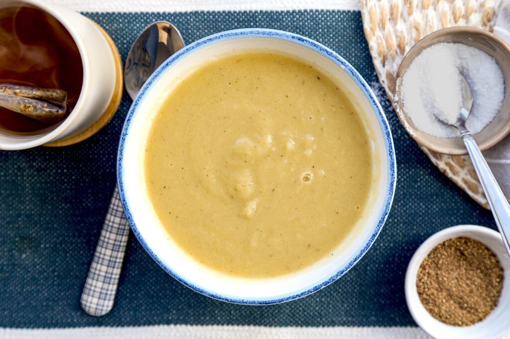 rice cooker leek and celeriac soup