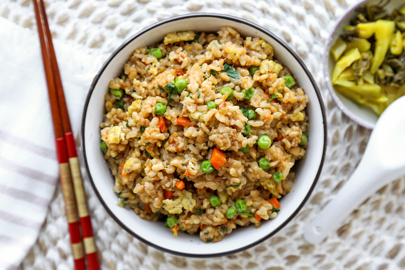 Healthy Vegetable Fried Rice (Brown Rice)