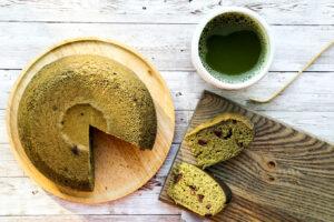 Matcha Adzuki Bean Cake