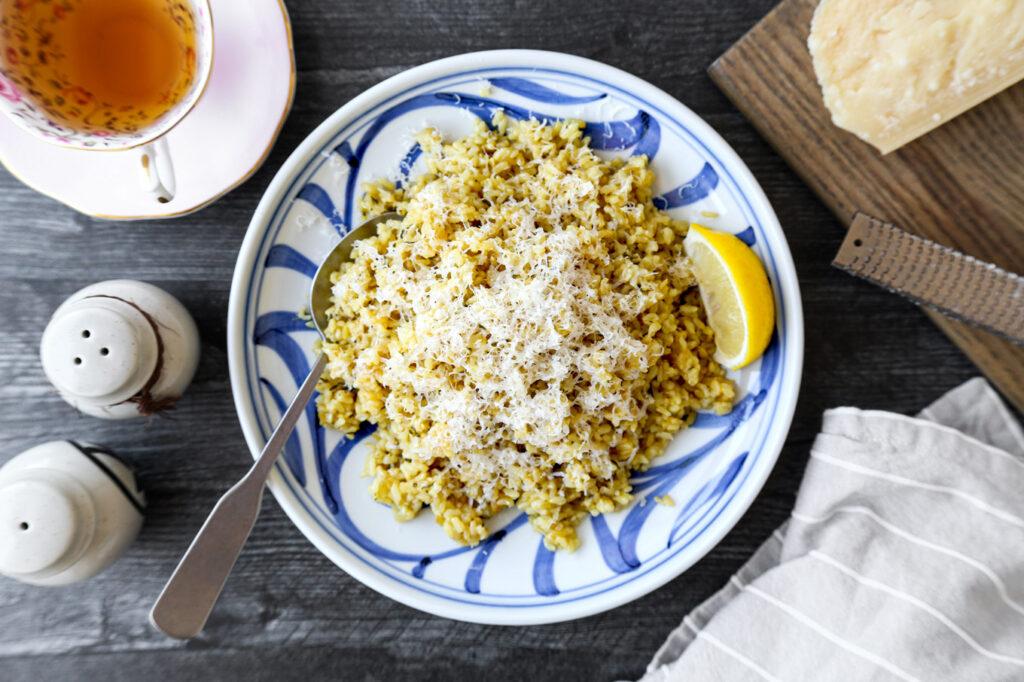 rice cooker garlic brown rice