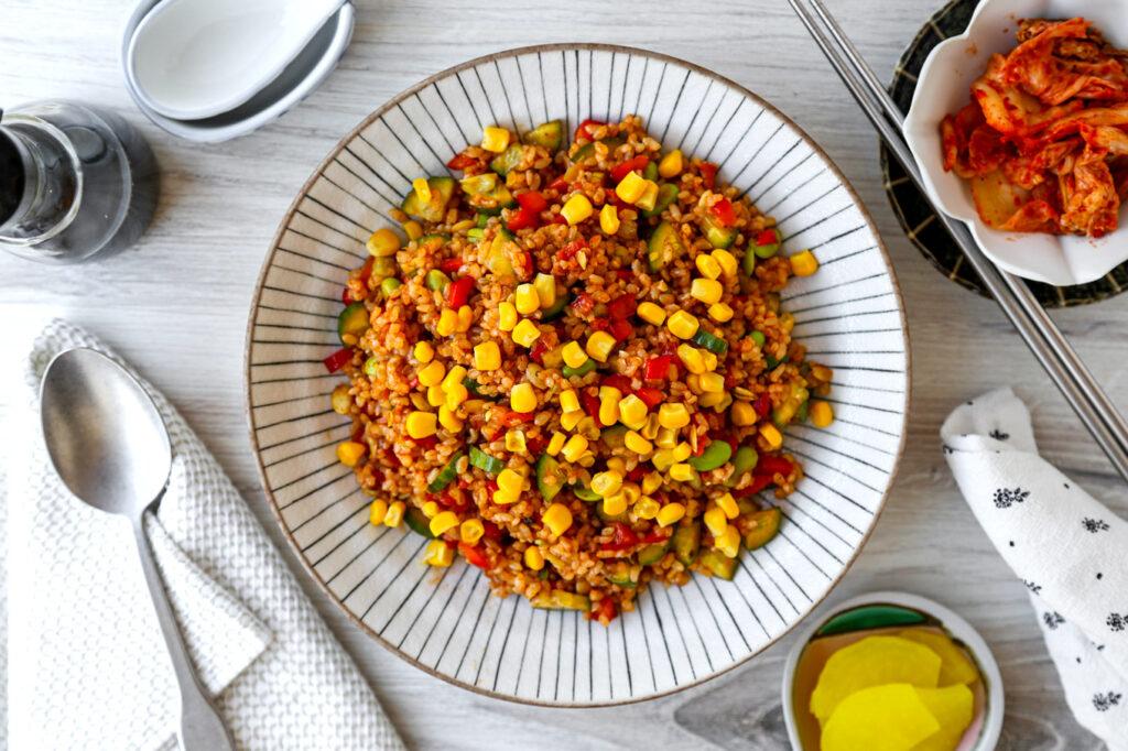 Korean Style Brown Rice Salad