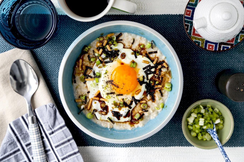 Savory Japanese Oatmeal Breakfast